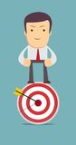 Man stands on top of the target Stock Images
