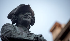 Man statue with a hat Royalty Free Stock Photos