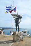 Man statue at Navarinou road Kalamata Peloponnese Greece Stock Images