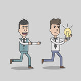 A man stealing idea from business man Royalty Free Stock Images
