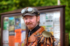 Man in Steampunk outfit Stock Photography