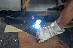 Man  Steel welding Stock Photography