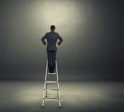 Man on the stepladder Royalty Free Stock Image