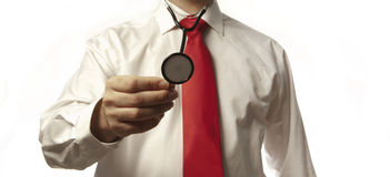 Man with stethoscope Royalty Free Stock Photography