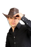 Man in stetson hat Stock Photos