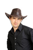 Man in stetson hat Stock Images