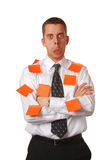 Man with stickers Stock Photography