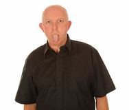 Man sticking out his tongue Royalty Free Stock Photos