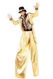 Man on stilts Royalty Free Stock Image