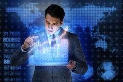 The man in stock trading business concept Stock Photography