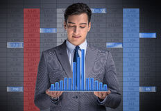 The man in stock trading business concept Stock Photo
