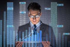 The man in stock trading business concept Stock Photos