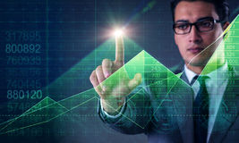 The man in stock trading business concept Stock Images