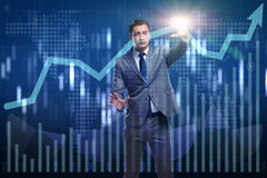 The man in stock trading business concept Royalty Free Stock Photography