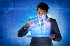The man in stock trading business concept Royalty Free Stock Images