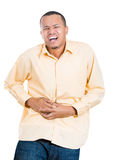 Man with stomach pain Stock Photography