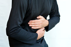 Man with stomach pain Royalty Free Stock Photography