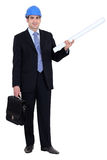 Man stood with briefcase Stock Image