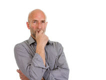 Man stood thinking Stock Photography