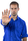Man with Stop Gesture Stock Images