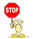 Man with Stop Sign stock photography