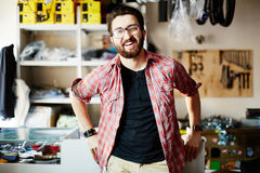 Man in store Stock Photography