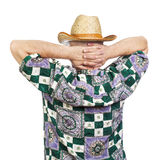 Man in a straw hat Royalty Free Stock Photos