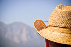 A man in the straw hat Stock Photo