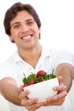 Man with strawberries Royalty Free Stock Photo