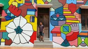 Man at Street Art Melaka Royalty Free Stock Photo