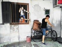 Man in Street art  Penang Royalty Free Stock Photos