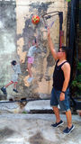 Man in the Street art  in Penang Royalty Free Stock Photography