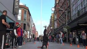Man street dancing stock video footage