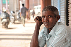 Man on the street. Delhi, India. stock image