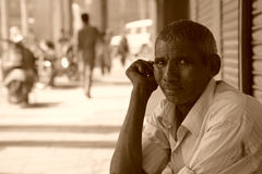 Man on the street. Delhi, India. Royalty Free Stock Images