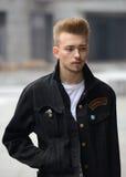 Man street fashion Stock Image