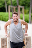 Man strength training hard - fitness exercises Royalty Free Stock Photo
