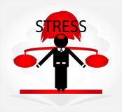 Man in stress. With weight Stock Photos
