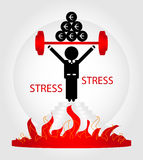 Man in stress. On pedestal Royalty Free Stock Images