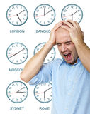 Man stressed any time Royalty Free Stock Photography
