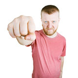 Man stretched out his fist forward Stock Images