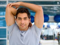 Man stretching Stock Image