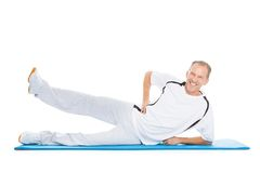 Man Stretching Leg Royalty Free Stock Photo