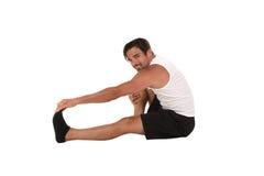 Man Stretching Stock Image