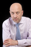 Man in a striped shirt and tie Royalty Free Stock Images