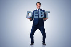 The man struggling with high debt Stock Images