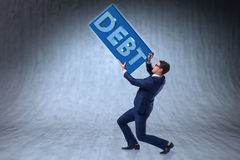The man struggling with high debt Royalty Free Stock Photo