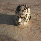 Man stuck in mud Royalty Free Stock Image