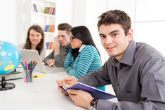 Man Student Learning Royalty Free Stock Photo