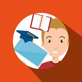 man student pc books Stock Images